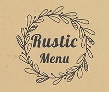 Rustic Menu Template