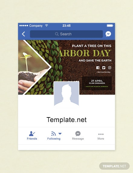 Free Arbor Day Facebook App Cover Template