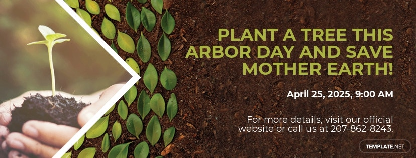 Arbor Day Facebook App Cover Template