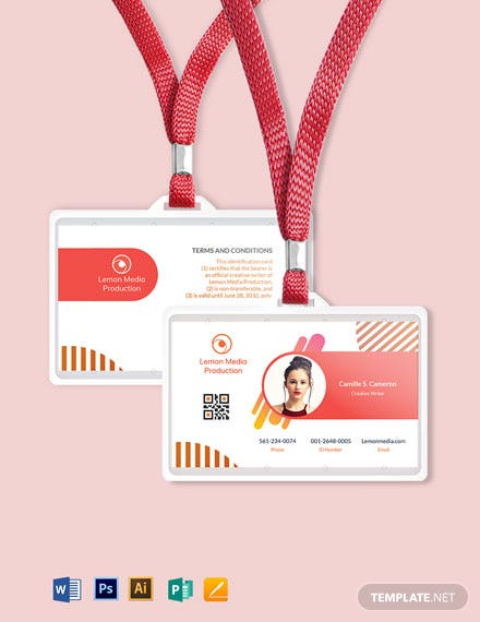 Creative Employee ID Card Template