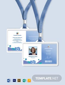 Creative Photographer ID Card Template