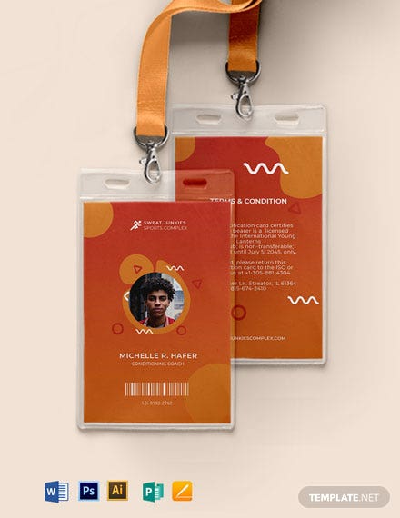 Creative sports ID Card Template