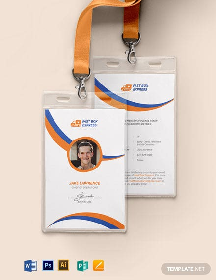 Delivery Service ID Card Template