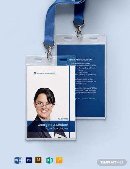 Department Store ID Card Template