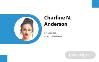 Elementary School ID Card Template