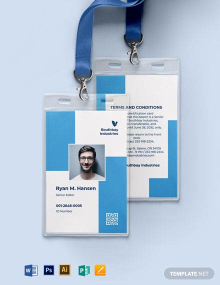 Employee ID Card Format Template