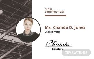 Factory ID Card Template