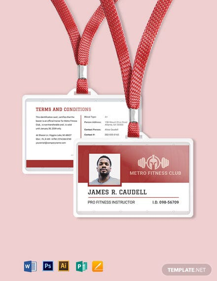 Fitness ID Card Template