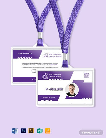 Football ID Card Template