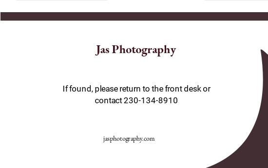Freelance Photographer ID Card Template 1.jpe