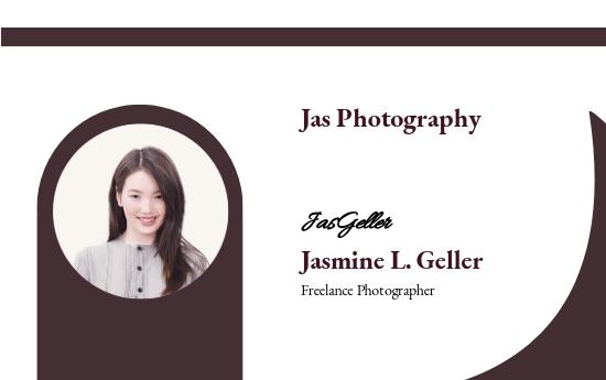 Freelance Photographer ID Card Template.jpe