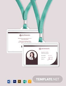 Freelance Photographer ID Card Template