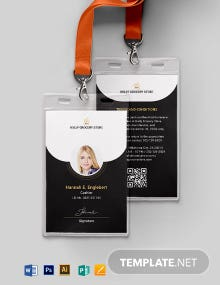 Grocery ID Card Template