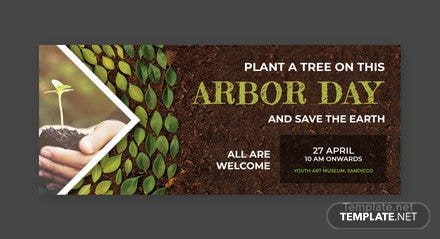 Free Arbor Day Facebook Cover Template