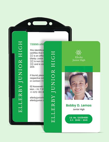 High School ID Card Download