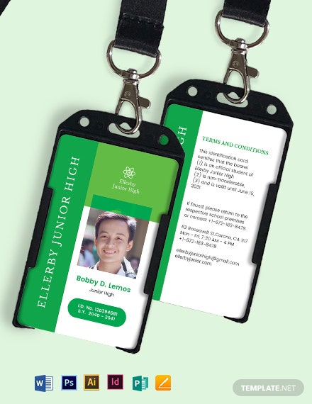 High School ID Card Template