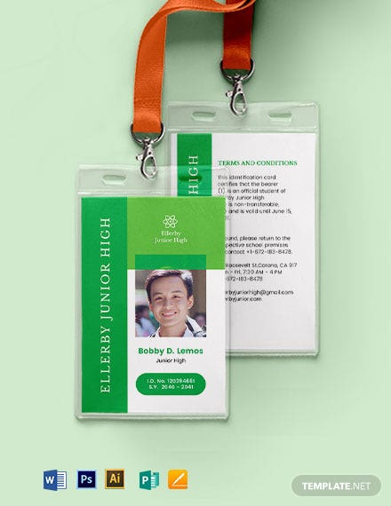 High School ID Card Template