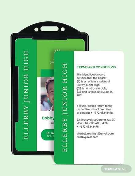 Sample High School ID Card