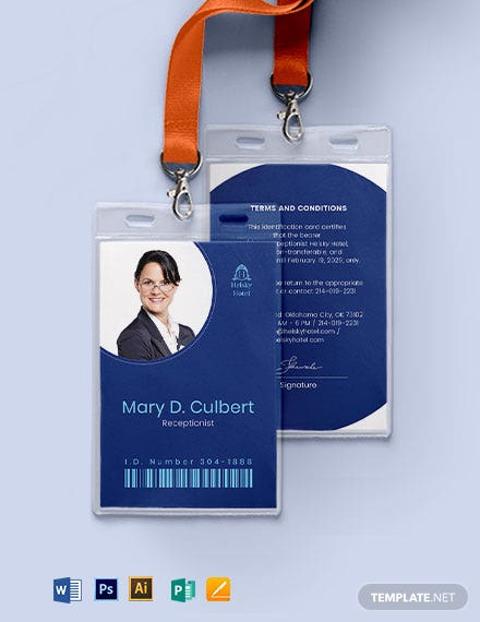 Hotel ID Card Template