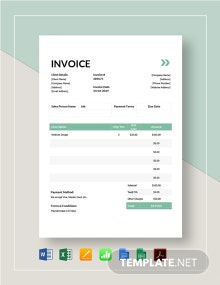 IT Services Invoice Template