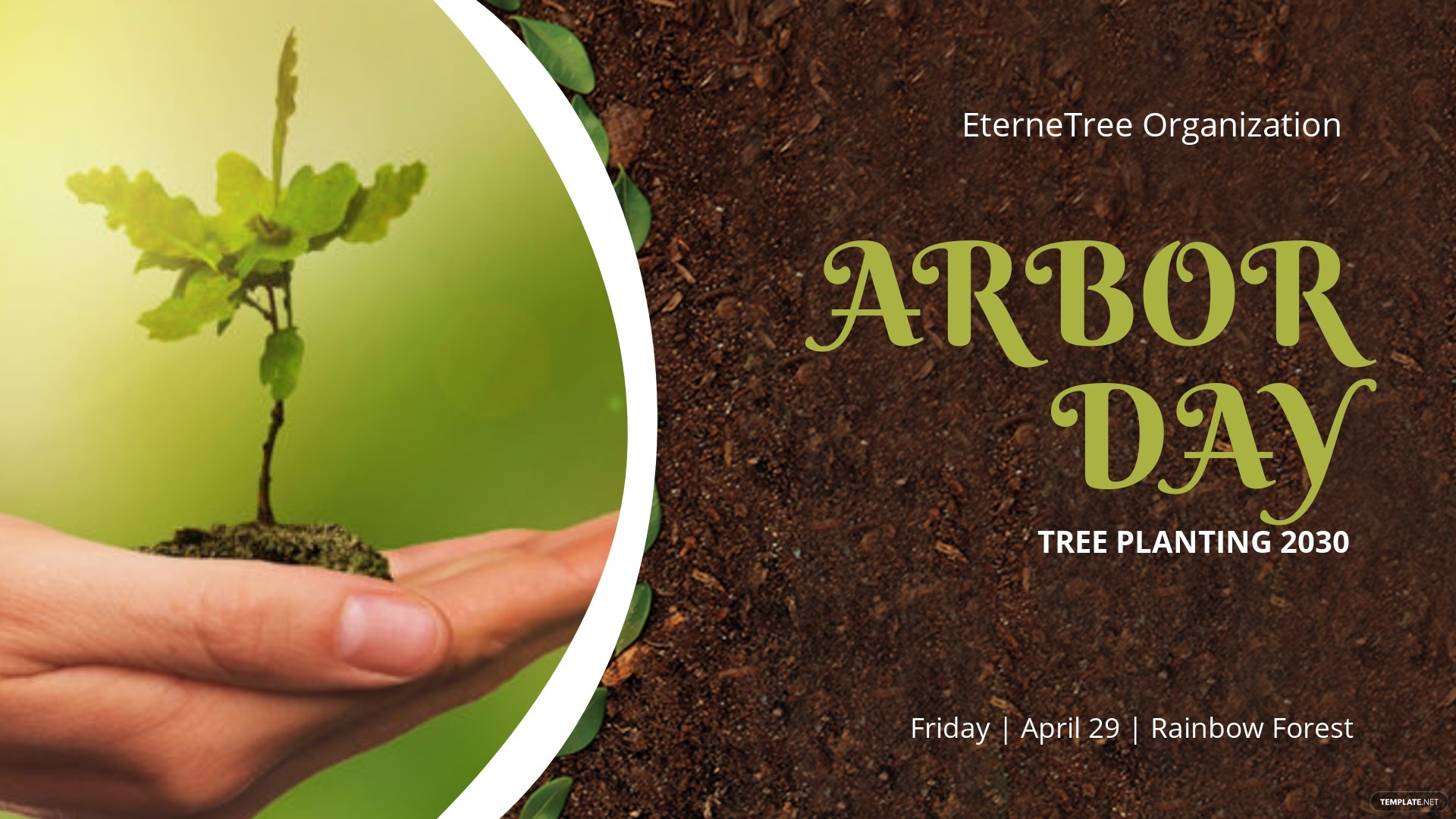 Arbor Day Facebook Event Cover Template