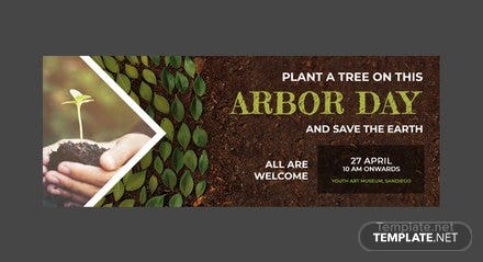 Free Arbor Day Facebook Event Cover Template
