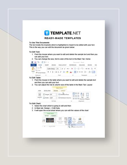 Auto Repair Estimate Invoice Instructions