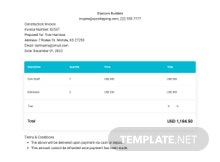Auto Repair Estimate Invoice Template