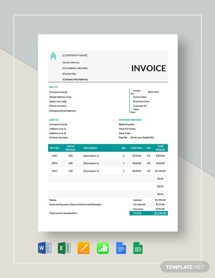 Basic Proforma Invoice Template