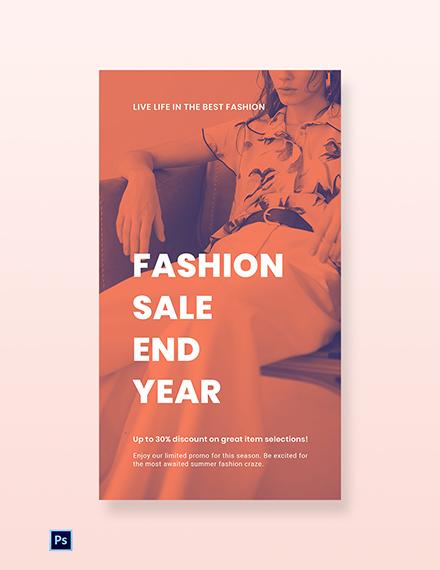 Free Minimalistic Fashion Sale Whatsapp Image Template
