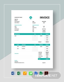 Car Repair Invoice Template