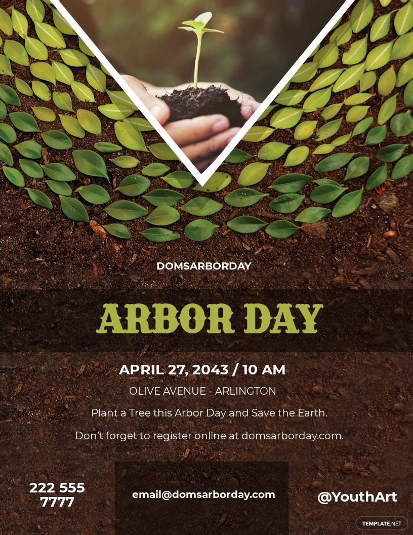 Arbor Day Flyer Template