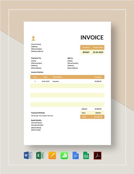Church Invoice