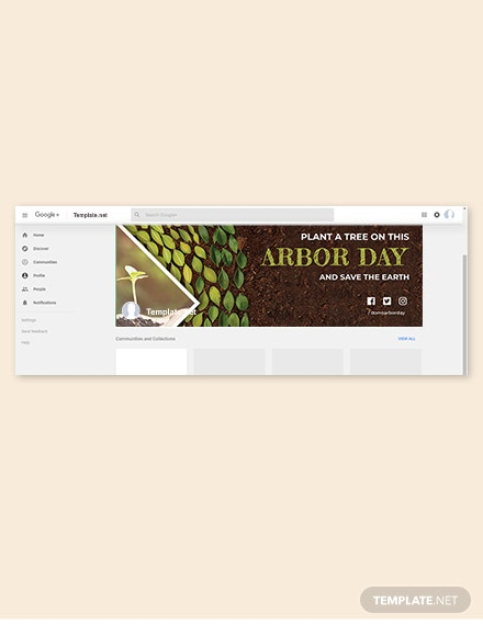 Free Arbor Day Google Plus Cover Template