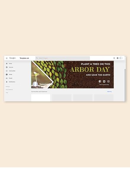 Arbor Day Google Plus Cover Template