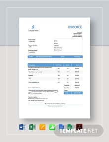 Roofing Estimate Invoice Template