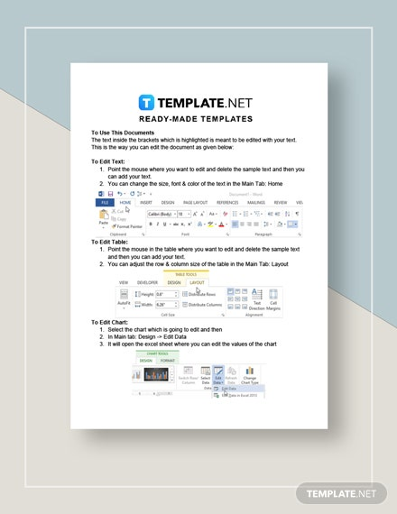 Commercial Invoice Template For Export Instructions