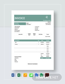 Commercial Lease Invoice Template