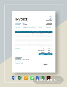Small Business Invoice Template