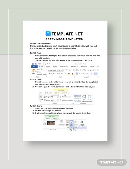 Travel And Tourism Invoice Instructions
