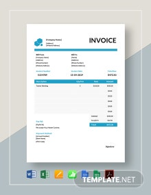 Educational Consultant Invoice Template