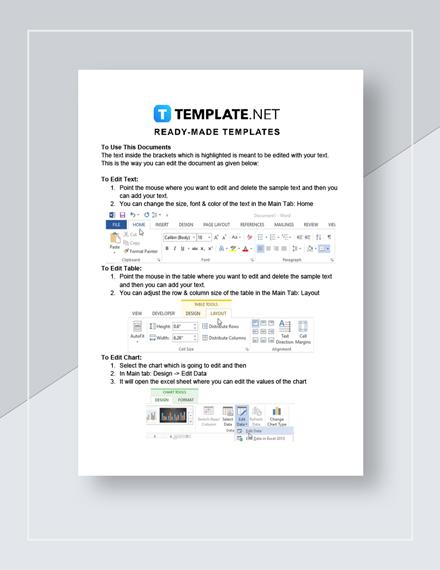 Travel Service Invoice Instructions