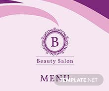 Free Salon Menu Template