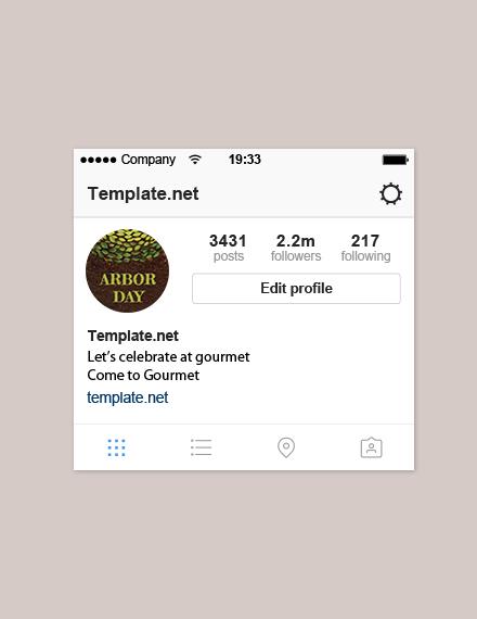 Free Arbor Day Instagram Profile Photo Template