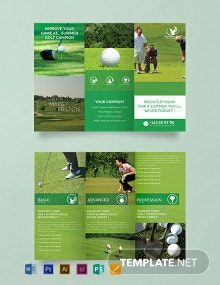 Free Summer Golf Tri-Fold Brochure Template