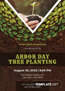 Free Arbor Day Invitation Template