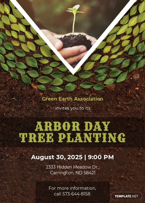 Arbor Day Invitation Template