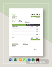 Sample Hourly Invoice Template