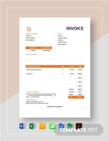 Painting Services Invoice Template