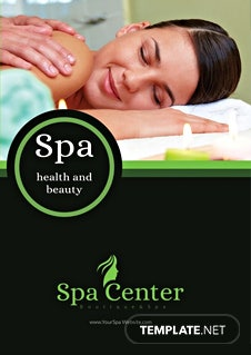 Free Spa Center Bifold Brochure Template